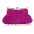 LSE0079 - Purple Crystal Evening Clutch Bag