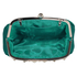 LSE0088 - Teal Sparkly Crystal Satin Evening Clutch