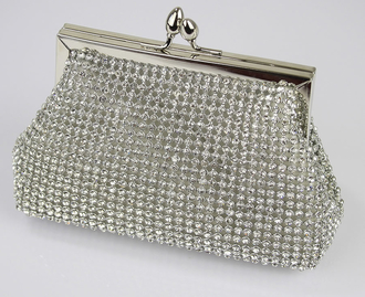 LSE0073- Sparkly Crystal Evening Clutch Bag