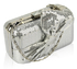 LSE0072 - Silver Gorgeous Sequin Bow Box Clutch