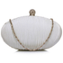 LSE0092 - Ivory Crystal Satin Evening Clutch