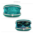 LSE0092 -Turquoise Crystal Satin Evening Clutch