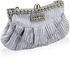 LSE0097 - Silver Crystal Evening Clutch Bag