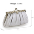 AGC0098 - Silver Crystal Evening Clutch Bag