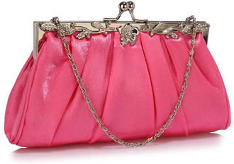 LSE0098 - Pink Crystal Evening Clutch Bag