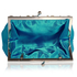 LSE0098 - Blue Crystal Evening Clutch Bag