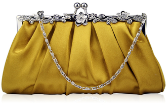 AGC0098 - Gold Crystal Evening Clutch Bag