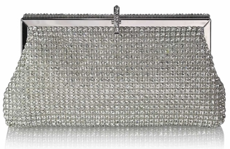 LSE00105- Sparkly Crystal Evening Clutch Bag