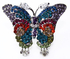 LSR007-Multi-Coloured Butterfly Crystal Ring