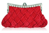 LSE0079 - Red Crystal Evening Clutch Bag
