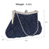 LSE0079 - Navy Crystal Evening Clutch Bag