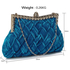 LSE0079 - Royal Blue Crystal Evening Clutch Bag