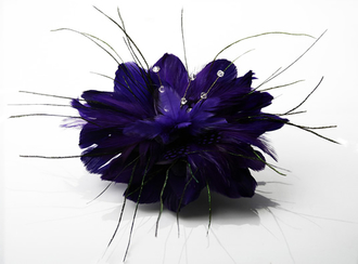 LSH0061 - Purple Feather Fascinator