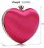 LSE0060 - Pink Diamante Hardcase Heart Clutch Bag