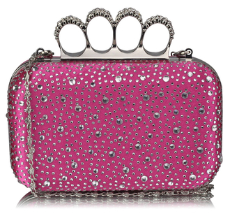 LSE00119- Wholesale & B2B Women's Pink Knuckle Rings Evening Bag Supplier & Manufacturer