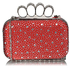 LSE00119- Wholesale & B2B Red Women's Knuckle Rings Evening Bag Supplier & Manufacturer