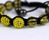 LSB008-Yellow Shamballa Bracelet Crystal-Disco Ball Friendship Bead