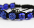 LSB008-Royal Blue Shamballa Bracelet Crystal-Disco Ball Friendship Bead