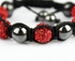 LSB009-Red Shamballa Bracelet Crystal-Disco Ball Friendship Bead