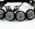 LSB0011-Wholesale & B2B Grey Shamballa Bracelet Crystal-Disco Ball Friendship Bead Supplier & Manufacturer