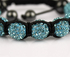 LSB0011-Teal Shamballa Bracelet Crystal-Disco Ball Friendship Bead