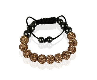 LSB0013-champagne Shamballa Bracelet Crystal-Disco Ball Friendship Bead