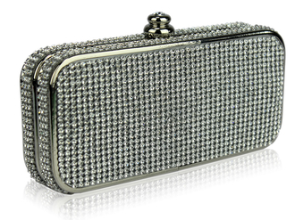 LSE00122- Wholesale & B2B Sparkly Crystal Evening Clutch Bag Supplier & Manufacturer