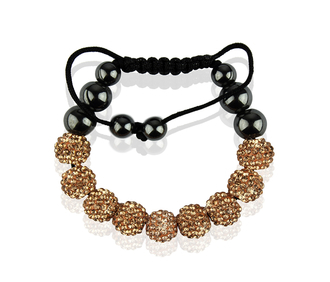 LSB0012-Wholesale & B2B Champagne Shamballa Bracelet Crystal-Disco Ball Friendship Bead Supplier & Manufacturer