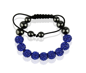 LSB0012-Wholesale & B2B Royal Blue Shamballa Bracelet Crystal-Disco Ball Friendship Bead Supplier & Manufacturer