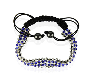 LSB0014-Royal Blue Crystal Bracelet