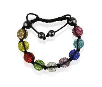 LSB0017-Multi colour Shamballa Bracelet Crystal-Disco Ball Friendship Bead