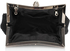 LSE00139- Black Sparkly Crystal Satin Clutch purse