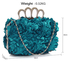 LSE00145- Teal Women's Knuckle Rings Evening Bag