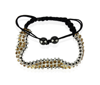 LSB0014-Coffee Crystal Bracelet