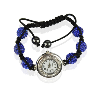 LSB0018- Royal Blue Shamballa Watch Bracelets ( Decorative watch)