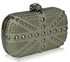 LSE00135-Wholesale & B2B Ivory Studded Clutch Bag With Crystal-Encrusted Skull Clasp Supplier & Manufacturer