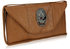 LSE00144 - Brown Skull Clutch purse