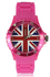 LSW007-Unisex Fuchsia Union Jack Watch