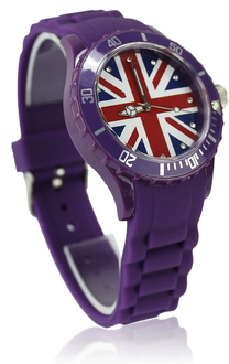 LSW007-Unisex Purple Union Jack Watch