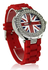 LSW009-Wholesale & B2B Red Diamante Union Jack Watch Supplier & Manufacturer
