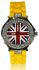 LSW009-Yellow Diamante Union Jack Watch