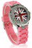LSW009-Pink Diamante Union Jack Watch