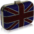 LSE00156- Women's Blue Union Jack Box Clutch