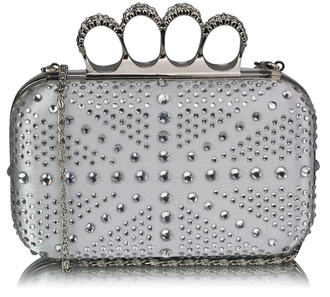 LSE00157- Wholesale & B2B Ivory Women's Knuckle Rings Evening Bag Supplier & Manufacturer