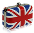 LSE00167-Union Jack Clutch Bag With Crystal-Encrusted Clasp
