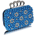 LSE00158- Wholesale & B2B Teal Women's Knuckle Rings Clutch With Crystal Decoration Supplier & Manufacturer