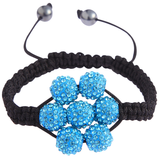 LSB0032-Teal Shamballa Bracelet Crystal-Disco Ball Friendship Bead