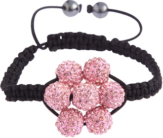 LSB0032-Pink Shamballa Bracelet Crystal-Disco Ball Friendship Bead