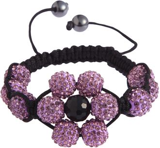 LSB0033-Wholesale & B2B Purple Shamballa Bracelet Crystal-Disco Ball Friendship Bead Supplier & Manufacturer