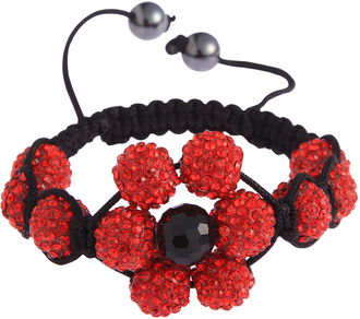 LSB0033-Red Shamballa Bracelet Crystal-Disco Ball Friendship Bead